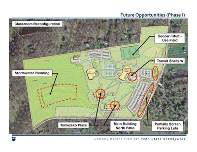 Map of Brandywine's future opportunities in Phase 1