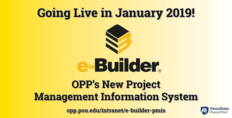 e-Builder coming soon. Going live in January 2019