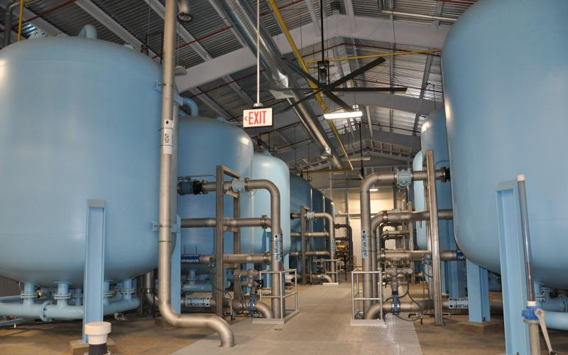 Granular Activated Carbon treatment facility removes chemical contamination