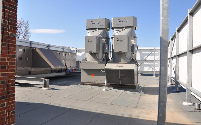 Roof Air Handlers : Tyson building hvac upgrades and roof replacement office