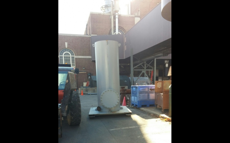 Temporary stack for new boiler testing.