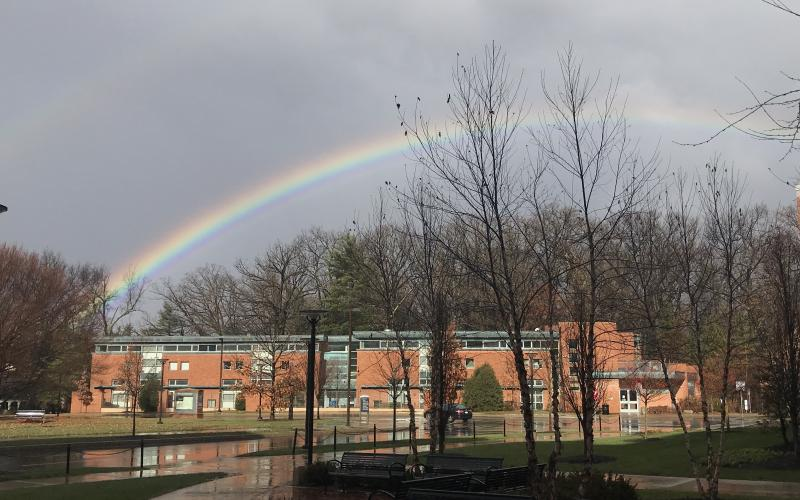 rainbow over hort woods child care center