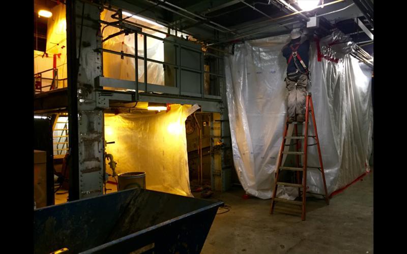 Demolition of boiler 1