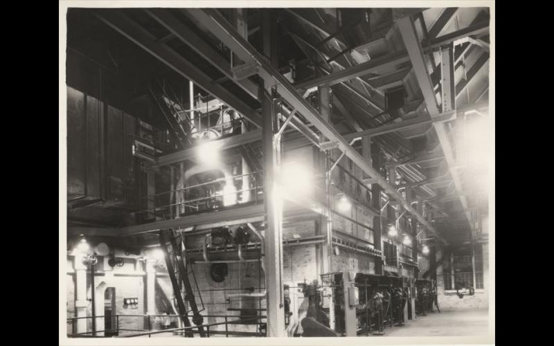 Circa 1929-1930: Original coal-fired, retort stoker boilers in operation
