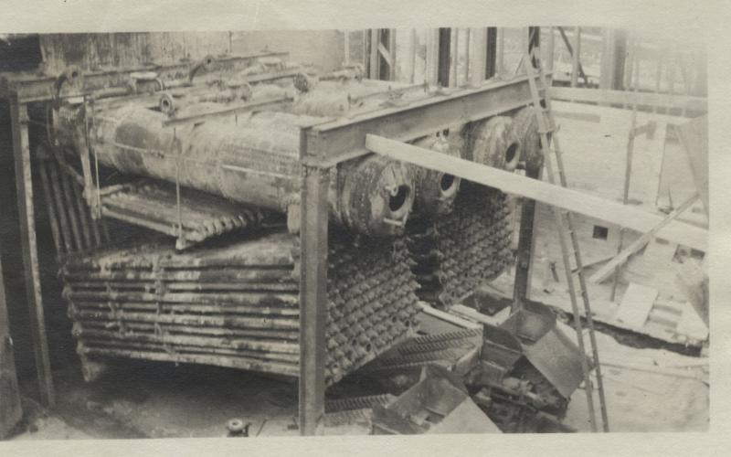A photo of riveted boilers circa 1910