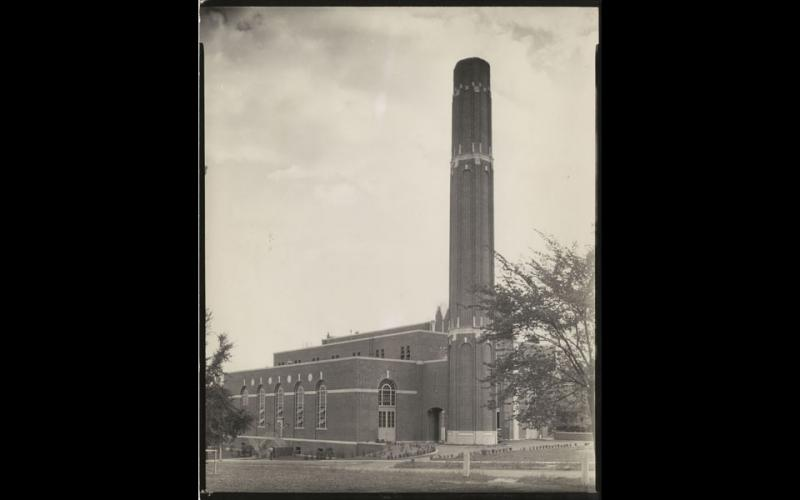 Circa 1931: The finished plant looking from Dieke Building