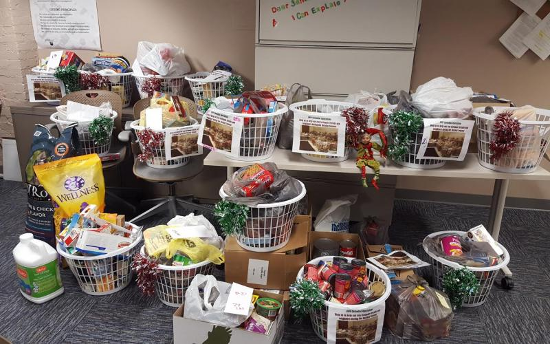 Photo of food collected during food drive