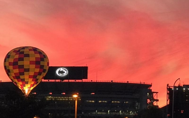 Sunset over Beaver Stadium