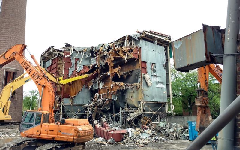 Baghouse demolition