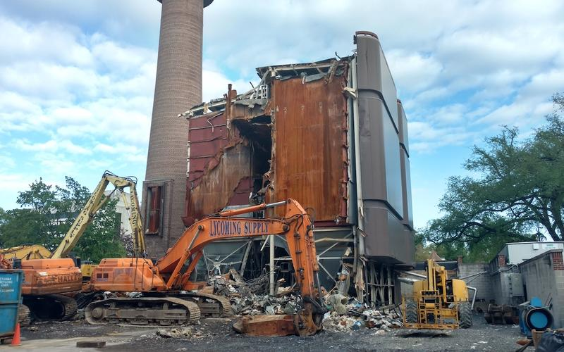 Baghouse demolition in progress - May 2017