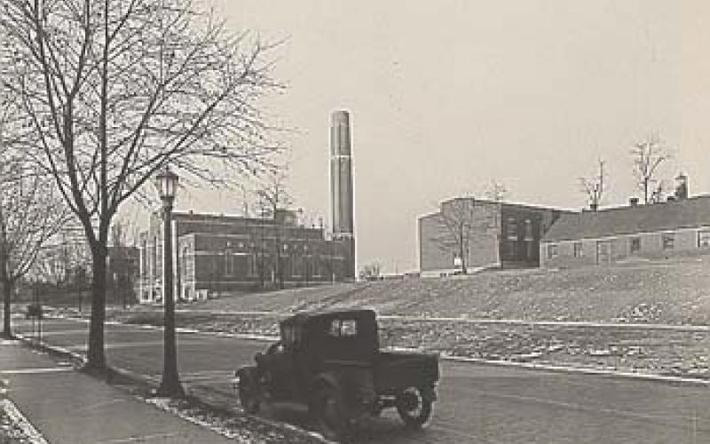 A photo of the finished plant looking from CVS/Corner Room circa 1931