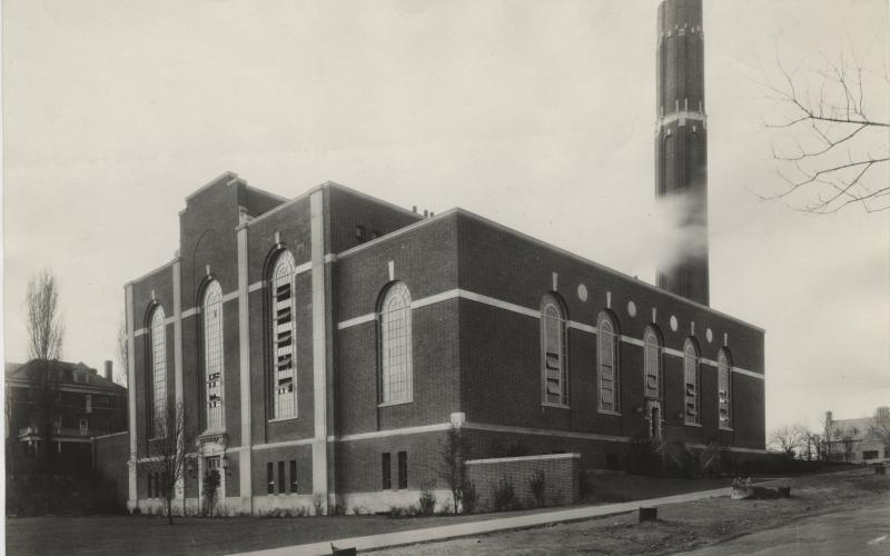 A photo of the finished plant looking from Starbucks circa 1931