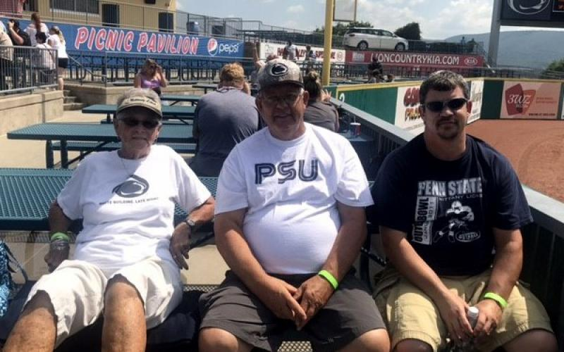 OPP family at State College Spikes game.