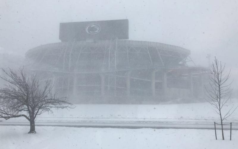 Beaver stadium in the snow