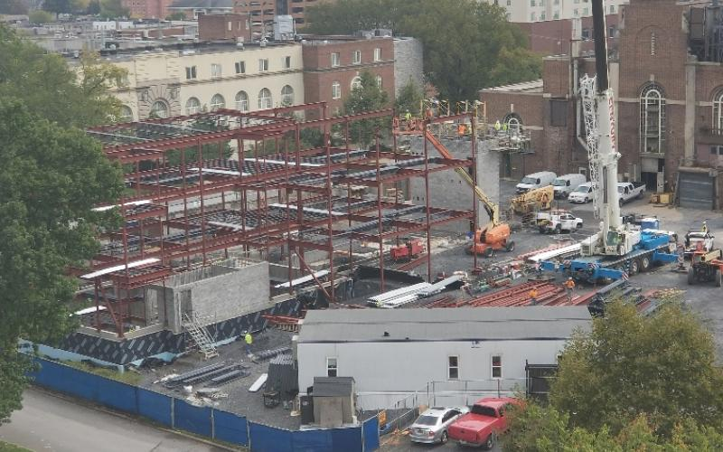 Steam Services Building construction - October 2018