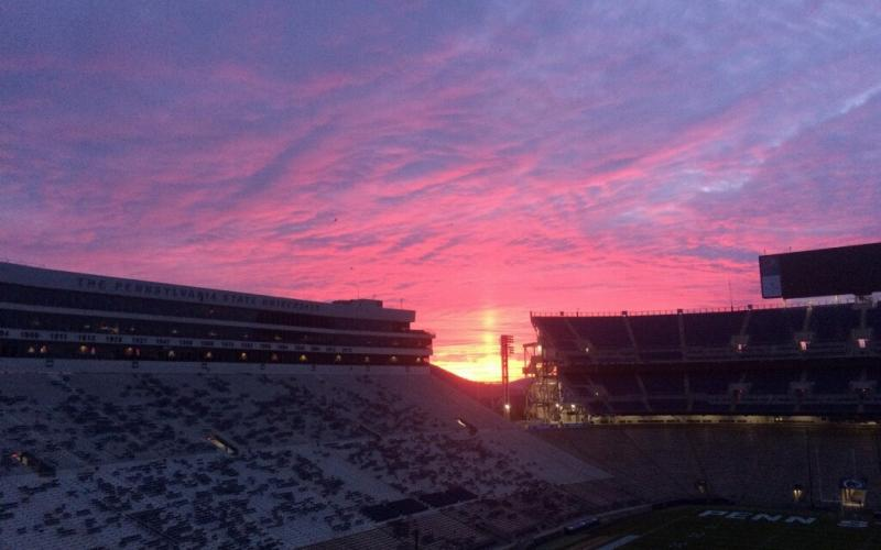 sunrise over beaver stadium
