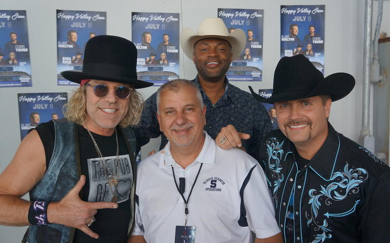 Photo of Terry Hansel with band Big & Rich.