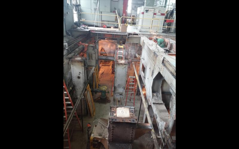 Turbine room looking into basement