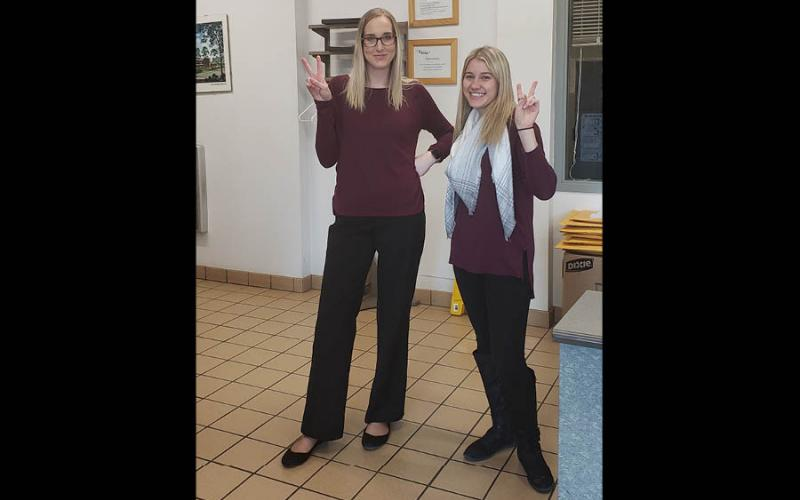 Shayla Branstetter and Mariah Kurzinger outfits