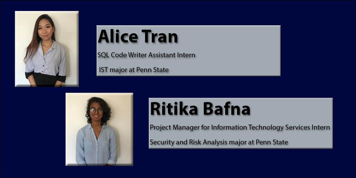 Alice Tran and Ritika Bafna