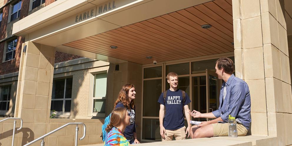 Students outside Earle Hall