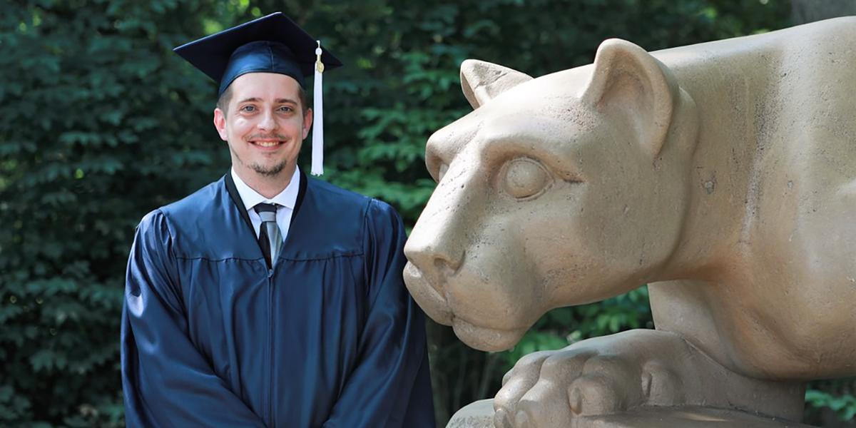 OPP employee Chris Halbig is set to graduate 17 years after starting college