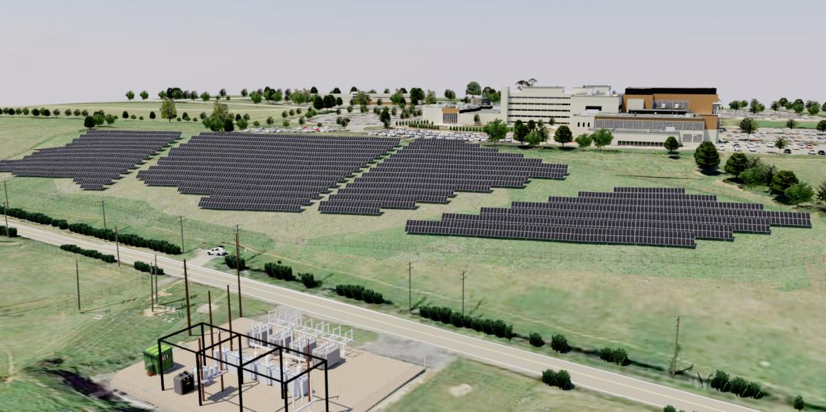 solar array rendering