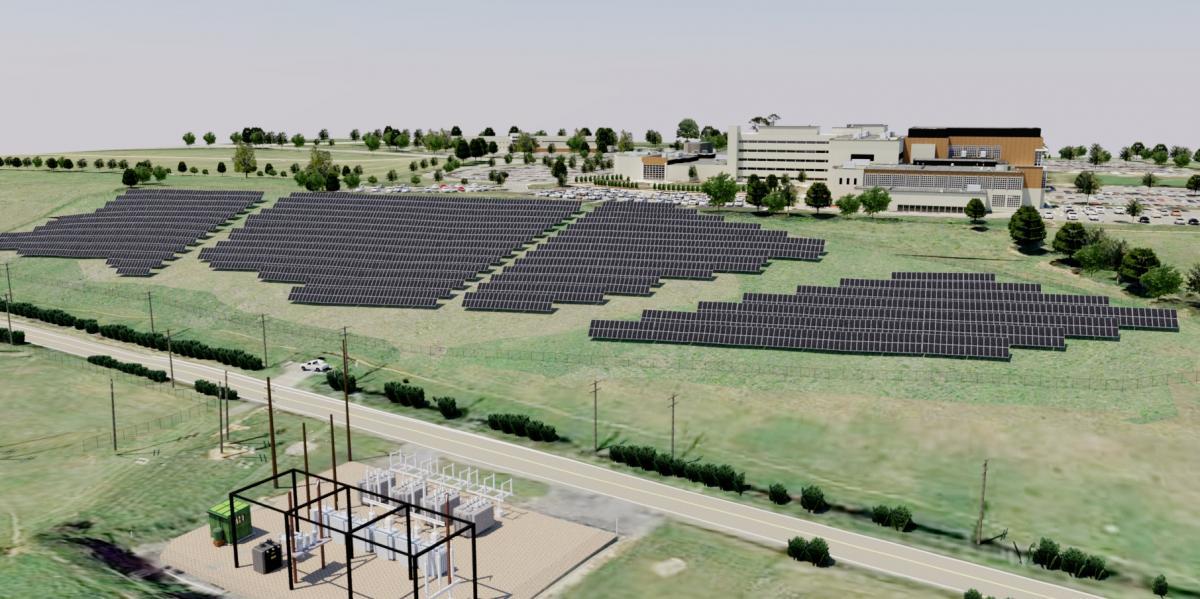 solar array rendering