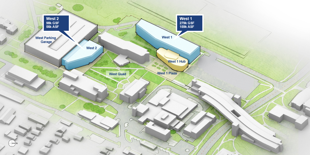 rendering of West 1 and West 2