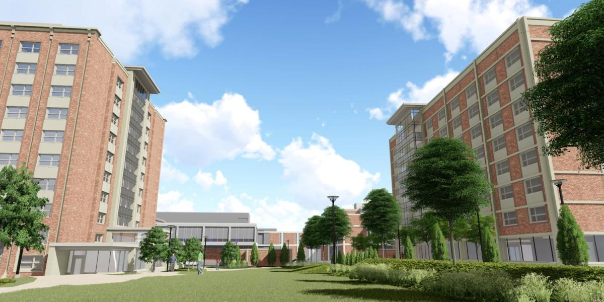 rendering of sproul and geary halls