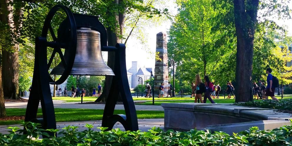 Image of Old Main Bell and Obelisk