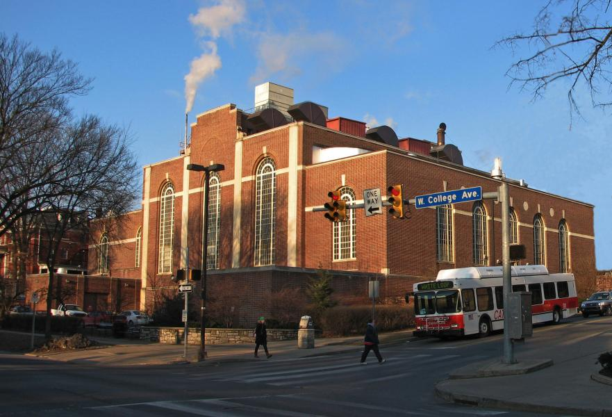 Picture of West Campus Steam Plant from College Avenue